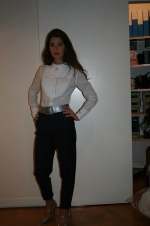 Levis shirt - vintage pants - Patrizia Pepe shoes
