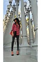 Zara bag - Forever 21 hat - Forever 21 shirt - Zara heels