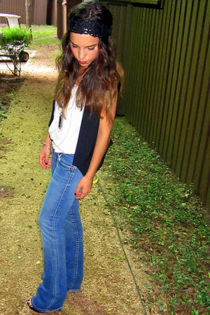 True Religion jeans - Forever21 top - lace headband Forever21 accessories