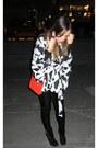 Heather-gray-freeway-sweater-black-madewell-leggings-red-chanel-bag-black-