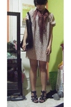 from Thailand scarf - Miss 21 dress - Mphosis accessories - Nine West shoes