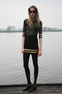 Black-oasap-boots-black-bershka-dress