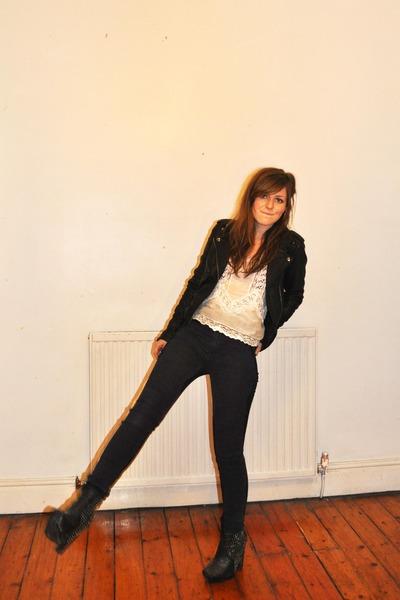 studded sam edelman boots - black Cheap Monday jeans - leather jacket Topshop Bo