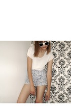 shirt - Paris Blues shorts - glasses