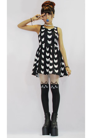 UNIF boots - H&M dress - Ebay tights