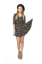 black floral skater Frolic Vintage dress