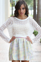 White Crochet Sweater