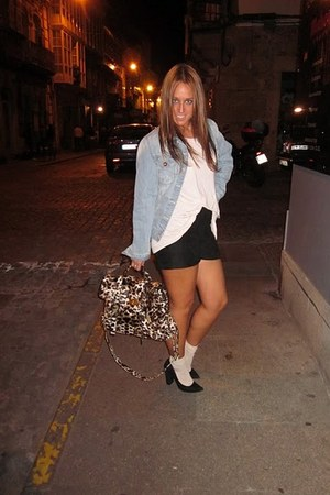 BLANCO bag - Zara shorts - Zara shoes - BLANCO jacket - H&M t-shirt