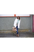 Jeffrey Campbell boots - BLANCO coat - Zara jeans - H&M sunglasses