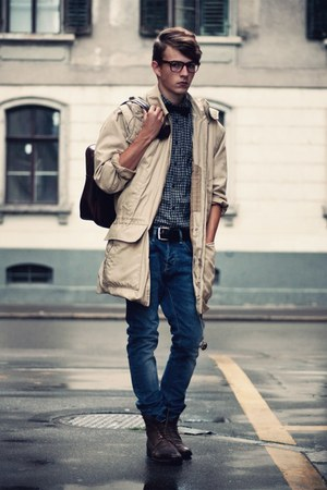 vintage coat - Gucci boots - H&amp;M jeans - Cheap Monday shirt - vintage bag