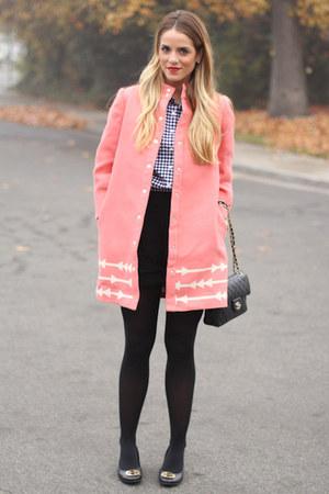 Anthropologie jacket - JCrew shirt - Chanel bag - tory burch heels