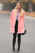 Anthropologie jacket - JCrew shirt - Chanel bag - tory burch heels