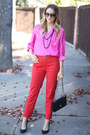 Chanel-bag-elizabeth-and-james-glasses-anthropologie-pants-tobi-blouse