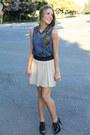 Bcbg-top-zara-skirt-forever-21-necklace-michael-kors-heels
