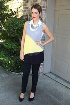 BCBG top - quicksilver boots - Urban Outfitters jeans - Forever 21 necklace