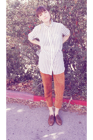 vintage pants - long striped Lamb and Flag blouse