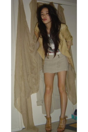 blazer - skirt - t-shirt