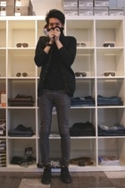 Orthodox sweater - BDG t-shirt - april 77 jeans - Fiorentini  Baker boots - Loca