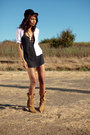 White-forever-21-blouse-gray-bdg-dress-beige-unknown-shoes-black-victoria-