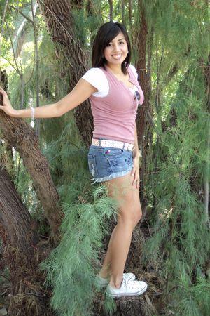 pink vest - shorts - Old Navy sunglasses - white Converse shoes - pink belt