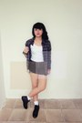 Black-adorable-projects-indonesia-boots-dark-green-flannel-vintage-shirt-bla