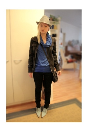 unknown shirt - unknown hat - Only jacket - One Way purse - DrDenim jeans - seco