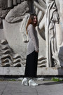 White-buckle-wedges-ann-demeulemeester-boots-beige-loose-knit-helmut-lang-swea