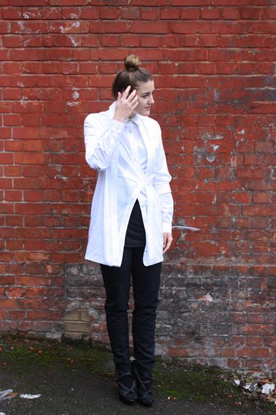 Alexander Wang shirt - straight leg Jil Sander pants - knot Burberry heels