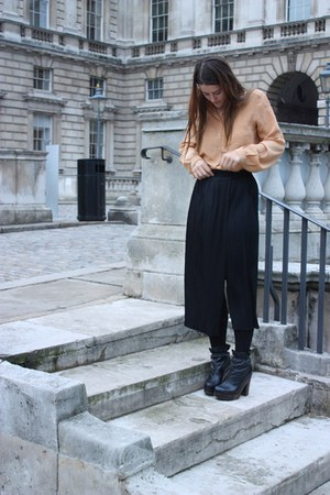 light orange Topshop shirt - black Issey Miyake pants - black Urban Outfitters b