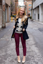 JCrew sweater - Anthropologie jacket - Aritzia pants - Nine West pumps