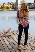 Aritzia blouse - joe fresh style boots - J Brand jeans - joe fresh style scarf