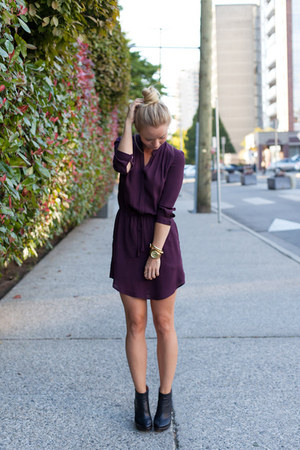 Modern Vintage boots - Aritzia dress - Michael Kors watch