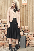 black asos skirt - black tesco boots - neutral Miss Selfridge jacket