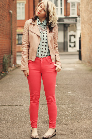 Coral-matalan-jeans-peach-miss-selfridge-jacket