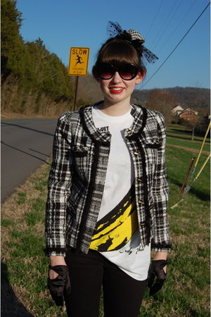 black New Directions jacket - white The Velvet Underground shirt - black Guess j