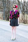 Black-vintage-dress-black-moschino-cheap-chic-jacket-green-moda-spana-heel