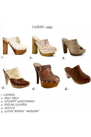 white Chanel shoes - pink Miu Miu shoes - gray stuart weitzman shoes - brown Ral