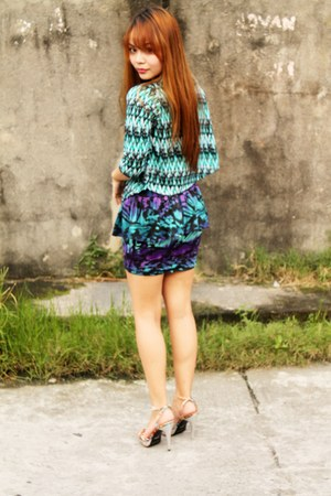turquoise blue House of Cortez top - purple Fashion Infinity skirt