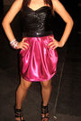 Pink-glitterati-dress-black-self-made-belt
