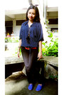 Navy-blouse-black-skinny-stretch-penshoppe-jeans
