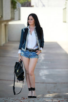 Lim Blazer and Denim Shorts