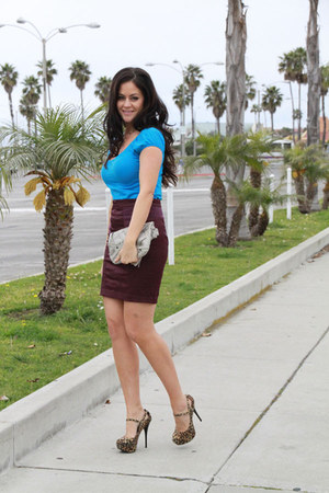 foley  corinna bag - Forever 21 top - Silence & Noise skirt - Qupid pumps