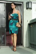 H&M dress - Forever 21 belt - Dolce Vita shoes - vintage purse