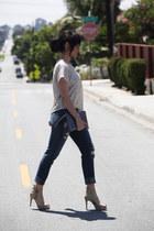 H&M top - fidelity jeans - Michael Kors bag - Pour La Victoire sandals