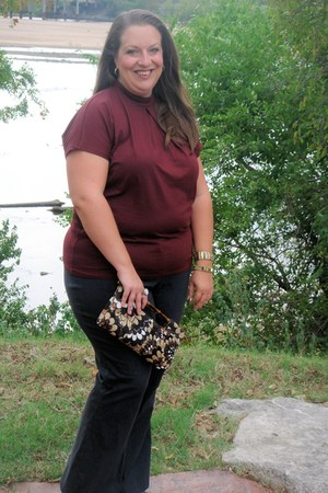 Express bag - Lane Bryant pants - asos blouse - Nine West heels