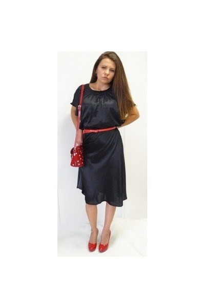 black Soaked in Luxury dress - Zatchels bag - mary moda pumps