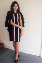 black Sacoor Brothers blazer - crimson Sacoor Brothers dress - black TODs heels