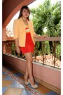 Carrot-orange-herve-ledger-dress-orange-sosi-stuff-blazer