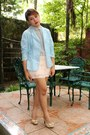 Sky-blue-sosi-stuff-blazer-periwinkle-thrifted-top-peach-kisses-co-skirt