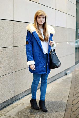 blue Sheinside coat
